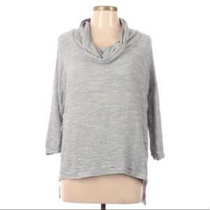 Olivia Moon gray pullover sweater lightweight